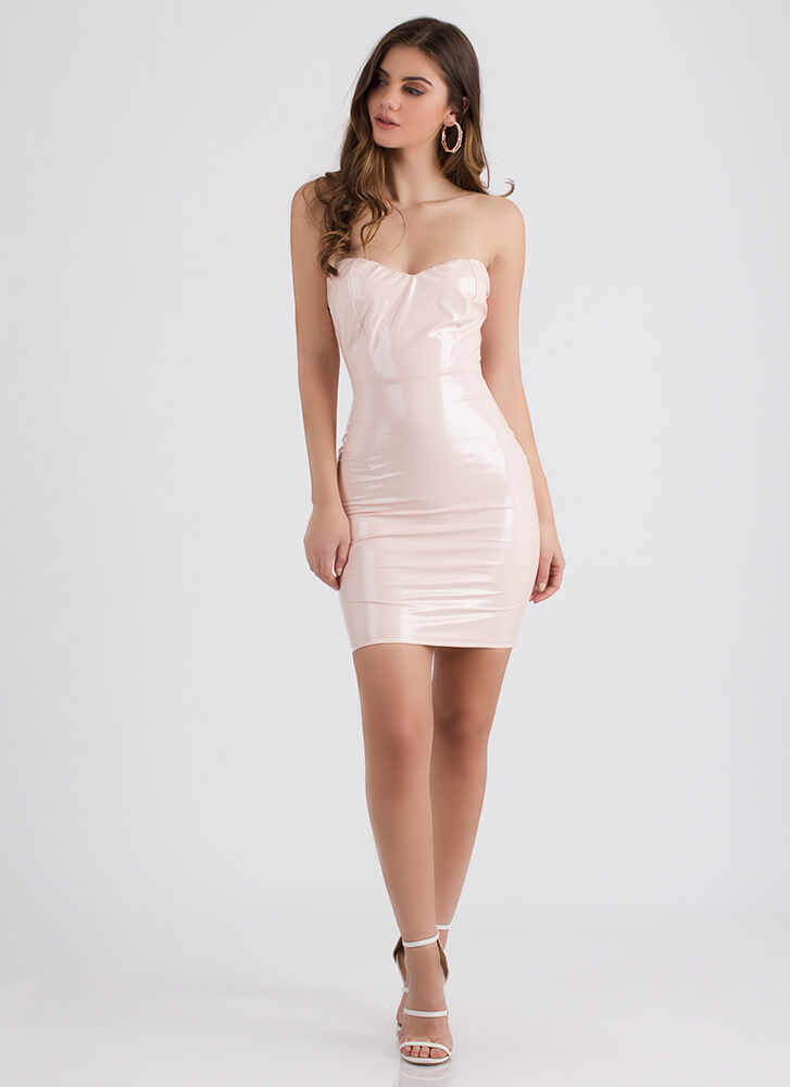 Sleek Your Mind Sweetheart Tube Dress PINK