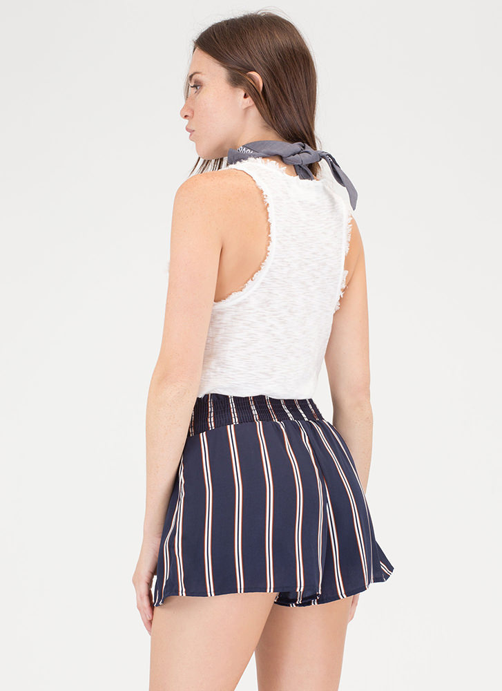 Stripe Now Contrast Shorts NAVY (You Saved $13)