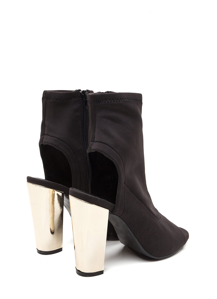 Sleek Preview Cut-Out Booties BLACK