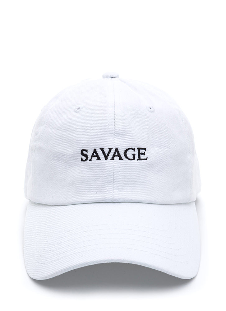 Savage Comeback Baseball Hat WHITE