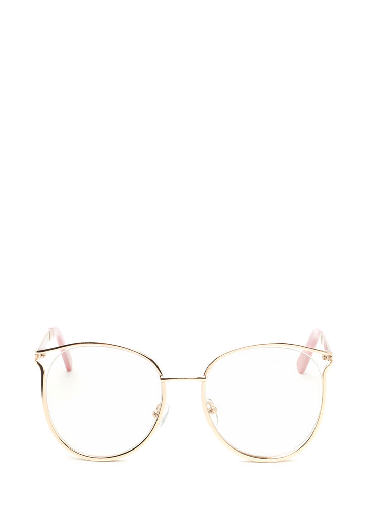 See You Later Shiny Round Glasses GOLD