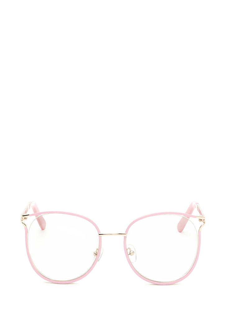 See You Later Shiny Round Glasses PINK