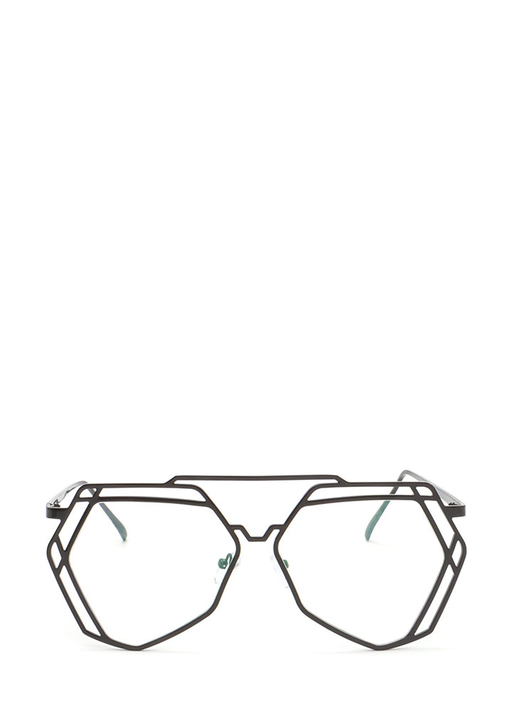 Work A New Angle Top Bar Glasses BLACK