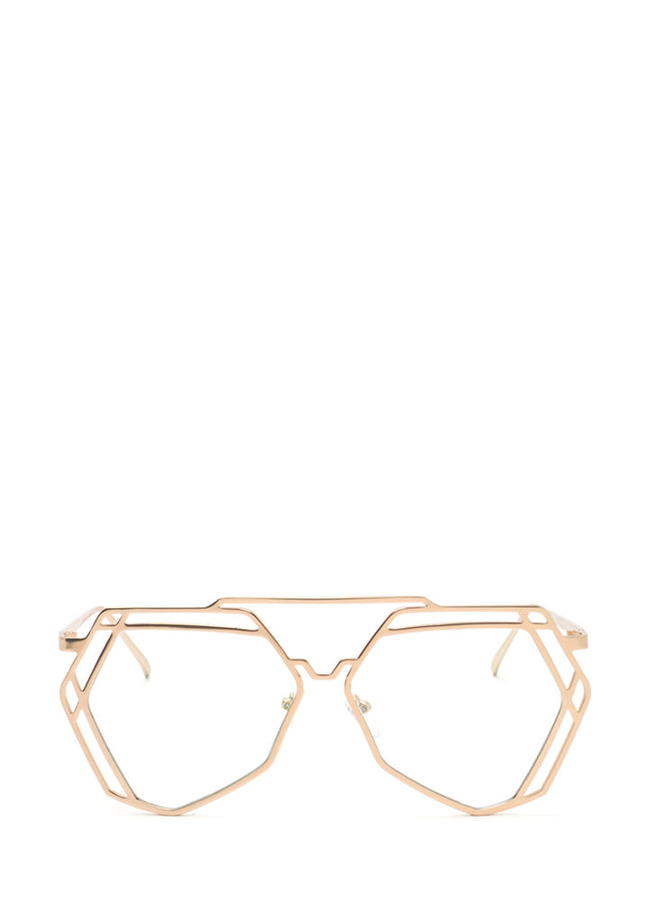 Work A New Angle Top Bar Glasses GOLD