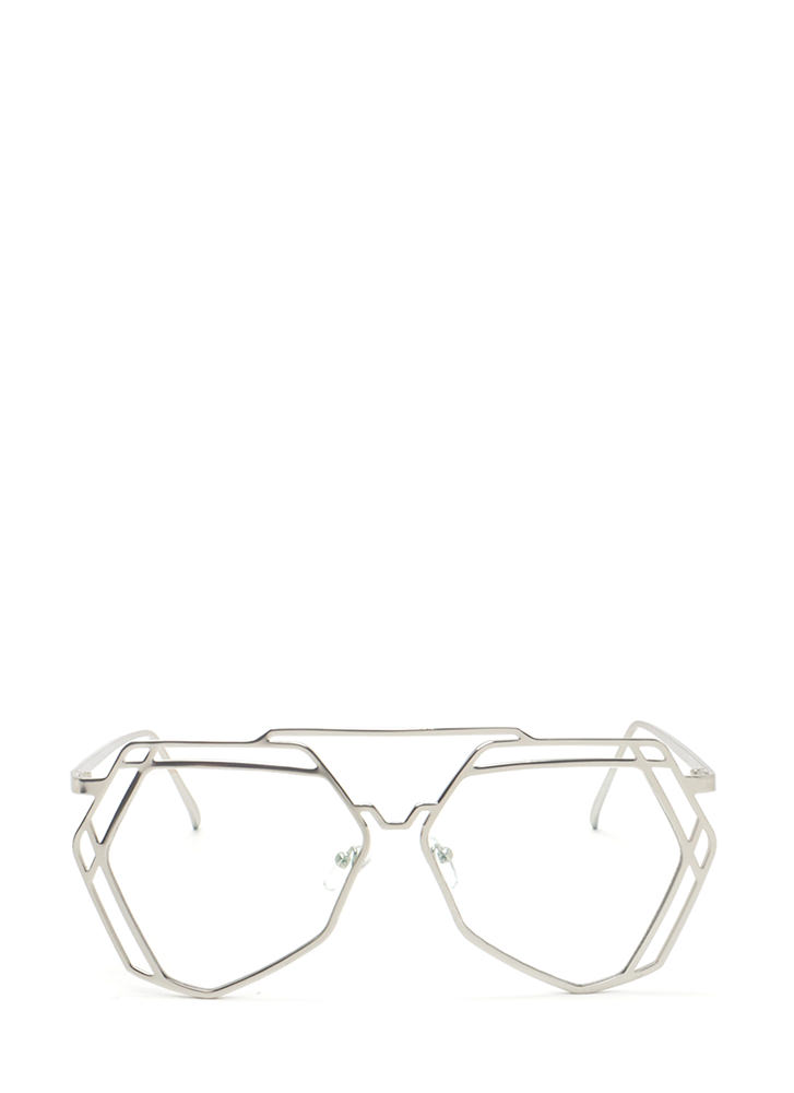 Work A New Angle Top Bar Glasses SILVER