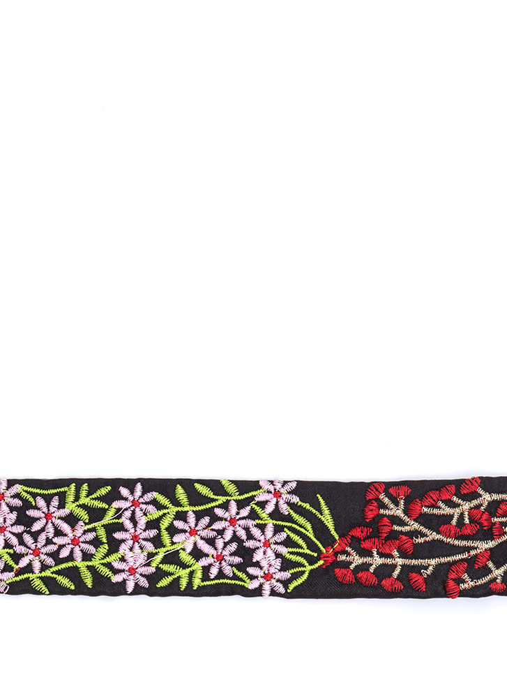In My Nature Wide Embroidered Choker BLACKMULTI (Final Sale)