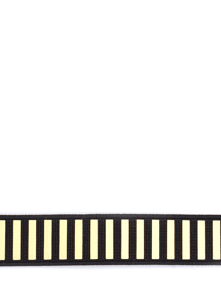 Plated Cool Stretchy Striped Choker BLACKGOLD