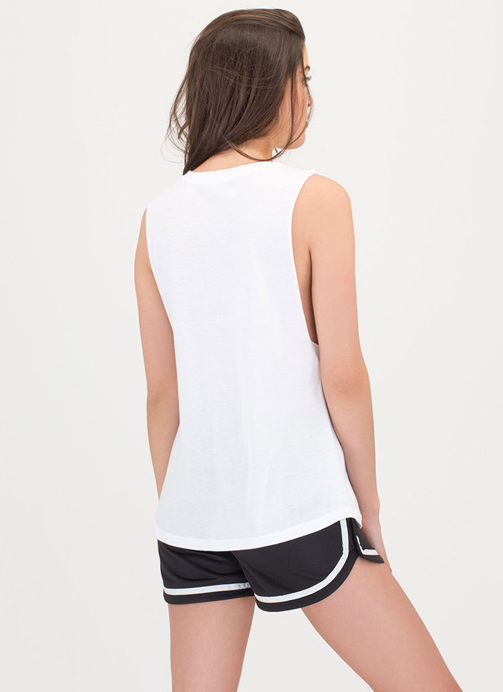 Girls Bite Back Graphic Tank Top WHITE