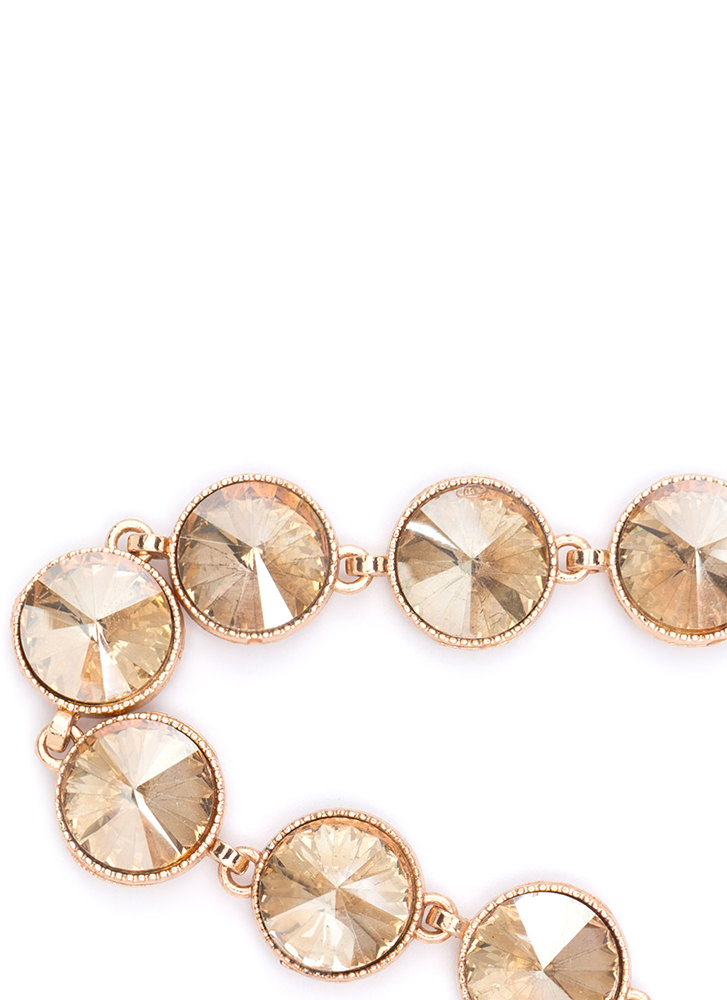 Round Of Applause Faux Gem Choker TOPAZ