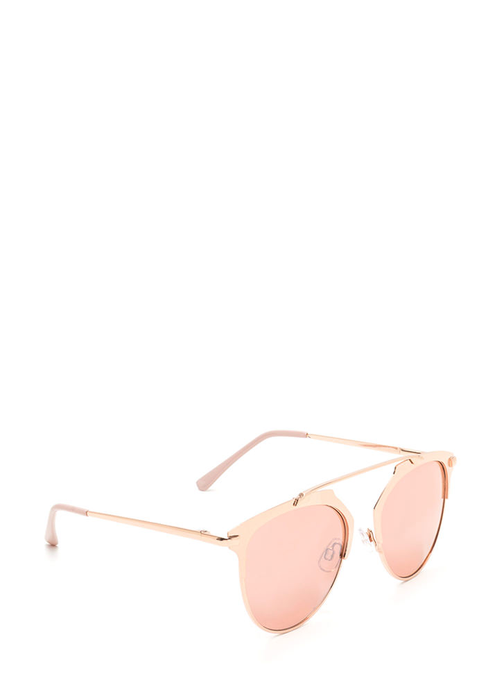 Round The Clock Brow Bar Sunglasses ROSEGOLD
