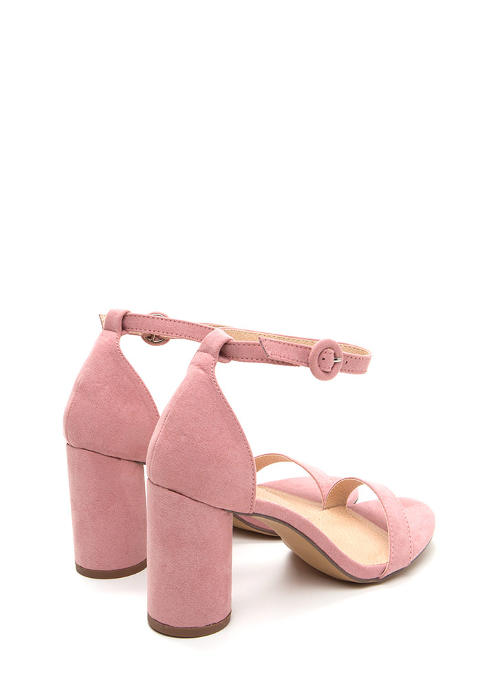 Right This Way Chunky Cylindrical Heels DUSTYPINK