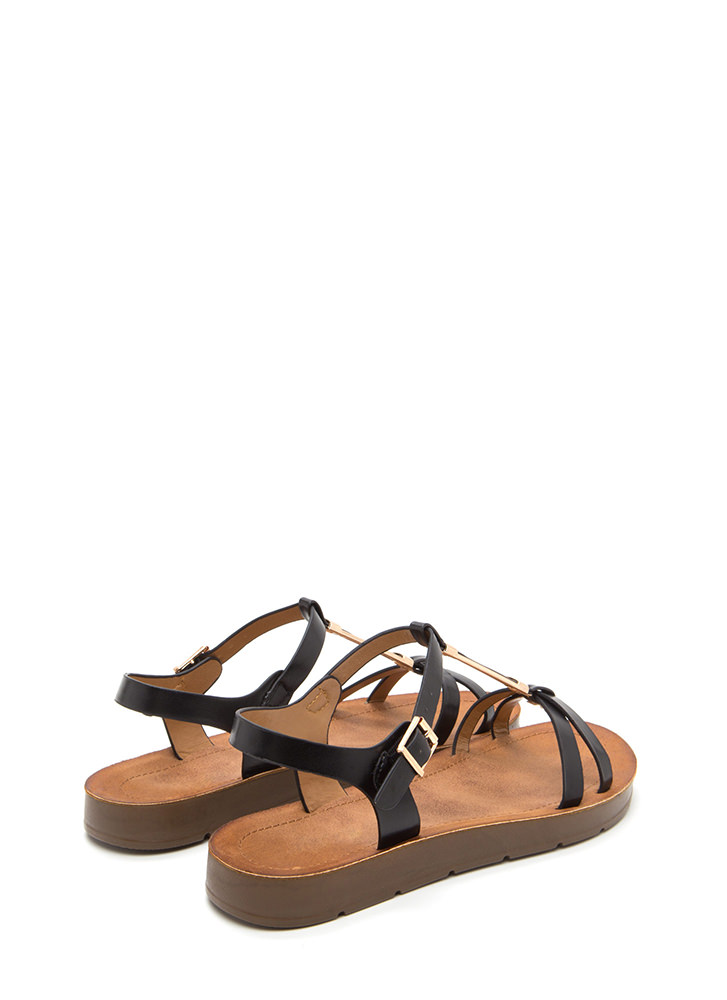 Made For Walkin' Faux Leather Sandals BLACK