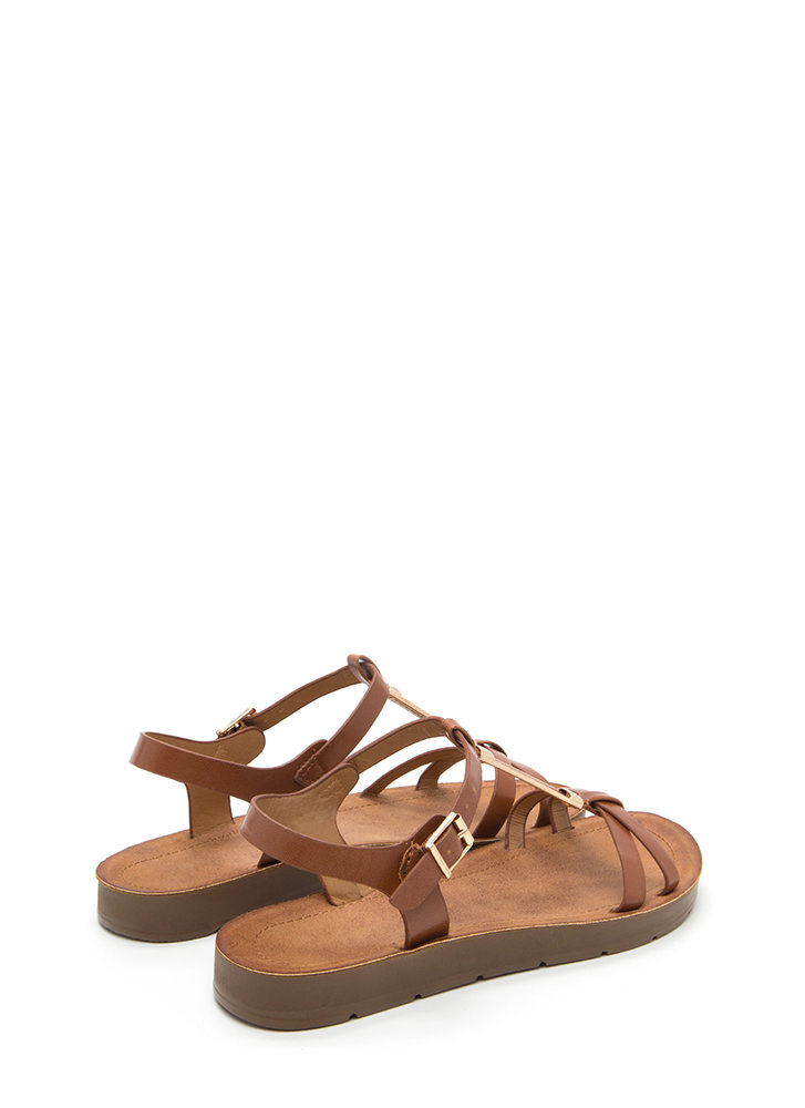 Made For Walkin' Faux Leather Sandals CHESTNUT