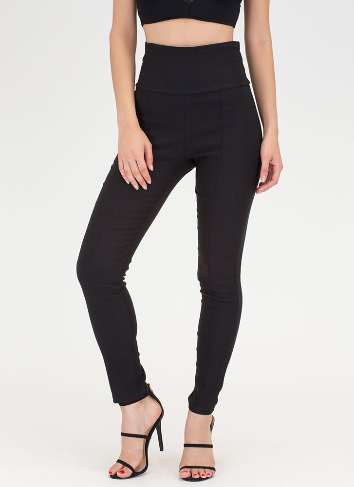 Count Us In Tapered Skinny Pants BLACK