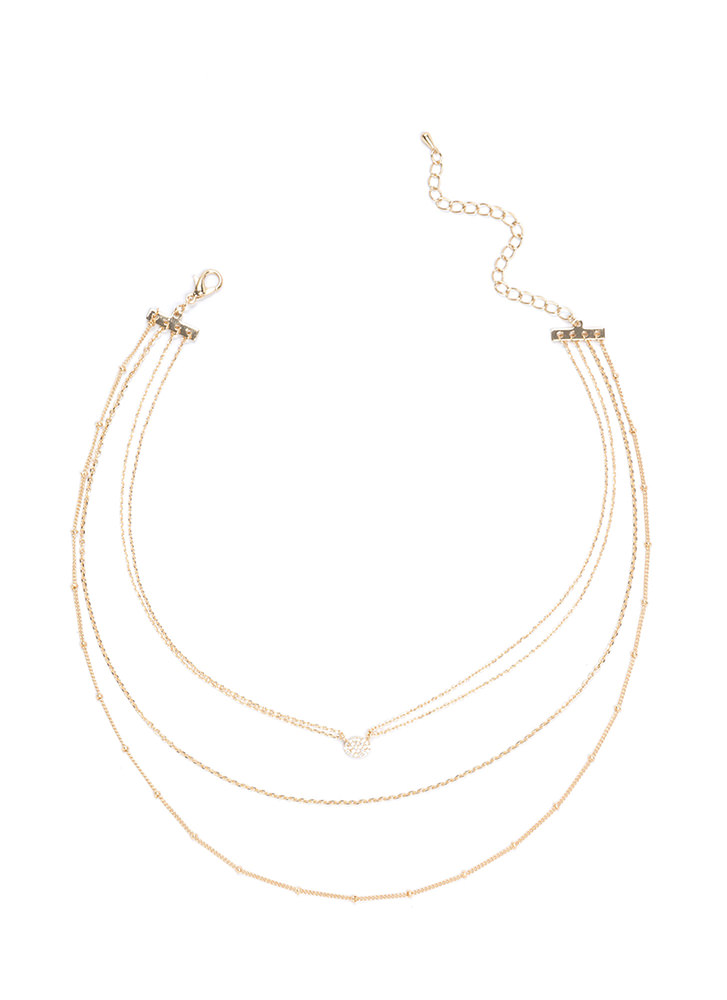 Gleam Party Layered Chain Necklace GOLD