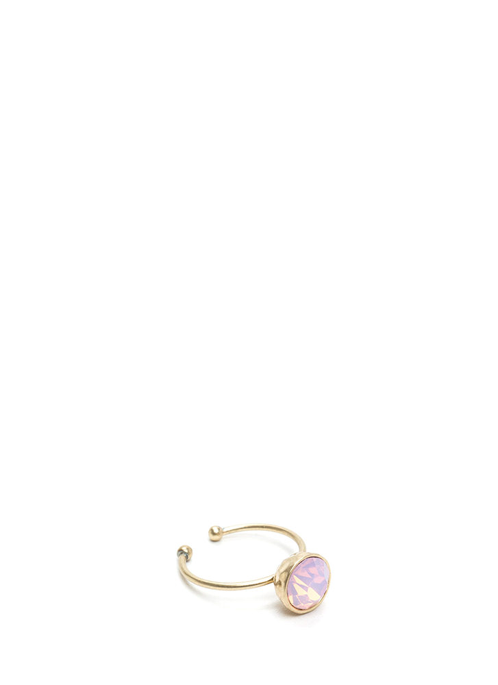 You're A Gem Adjustable Ring PINKGOLD