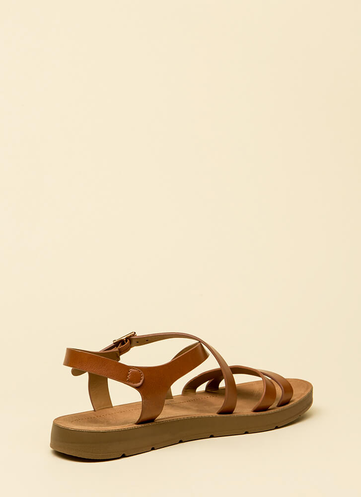 Next Adventure Caged Strappy Sandals TAN