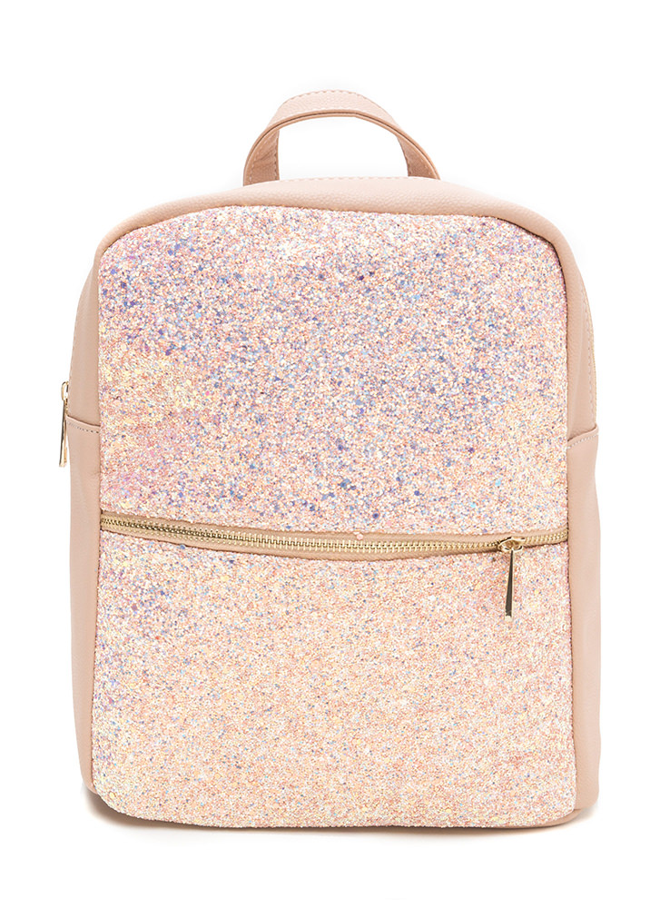 When In Doubt Glitter Backpack MAUVE