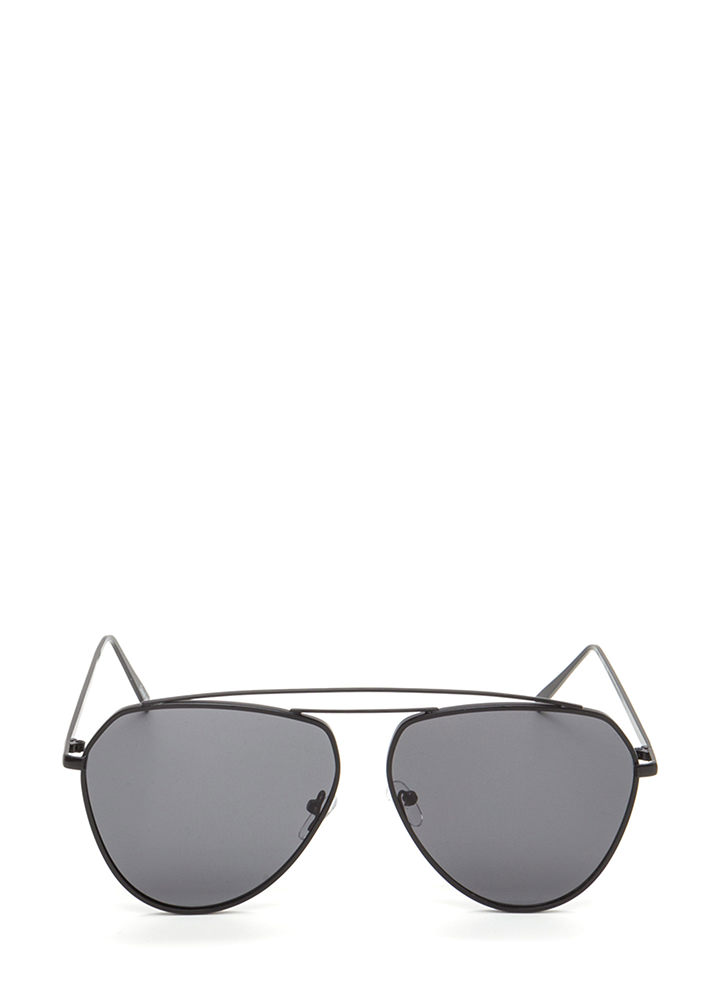 Setting The Bar Aviator Sunglasses BLACKBLACK