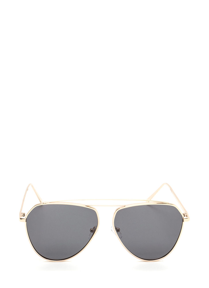 Setting The Bar Aviator Sunglasses BLACKGOLD