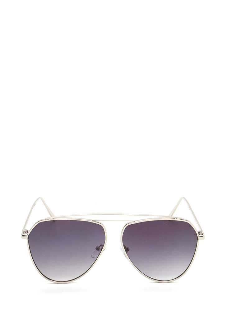 Setting The Bar Aviator Sunglasses BLACKSILVER