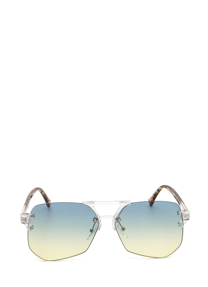 Cleared For Takeoff Ombre Sunglasses GREENYELLOW