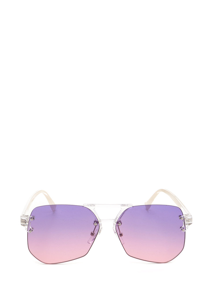 Cleared For Takeoff Ombre Sunglasses PURPLEPINK