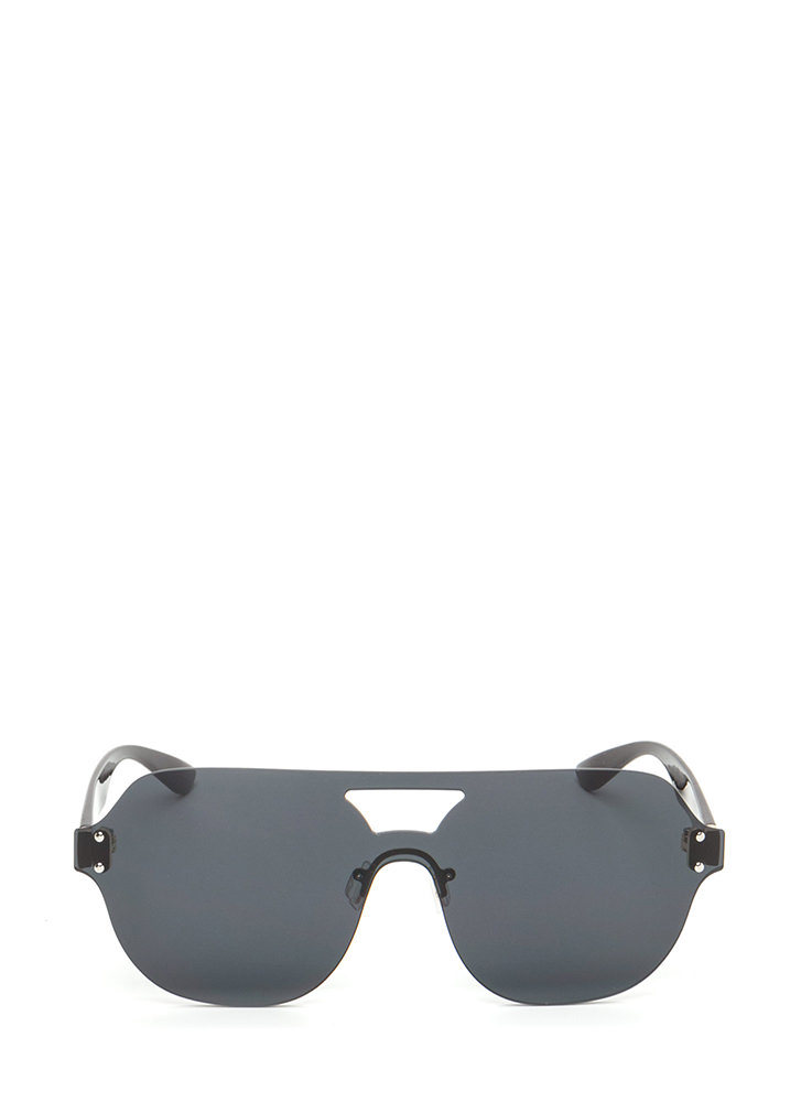 Flight School Frameless Sunglasses BLACK