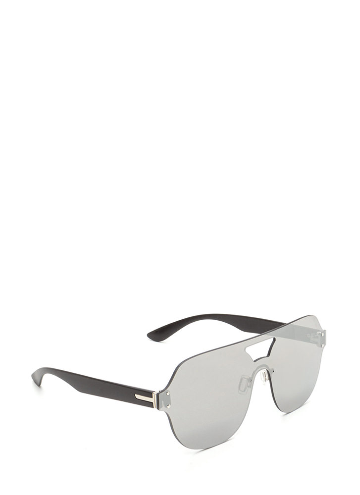 Flight School Frameless Sunglasses SILVER