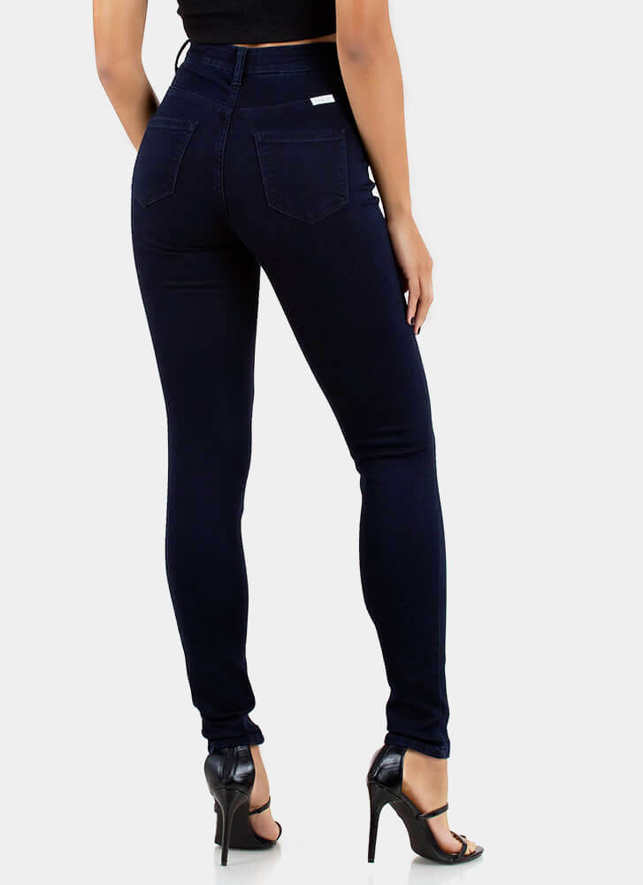 Go Easy High-Waisted Skinny Jeans INDIGO