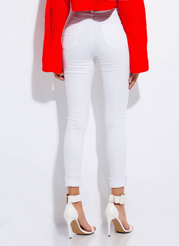 Go Easy High-Waisted Skinny Jeans WHITE