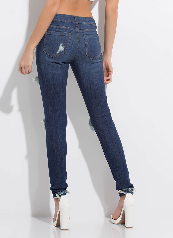 Rip It Good Washed Skinny Jeans DKBLUE