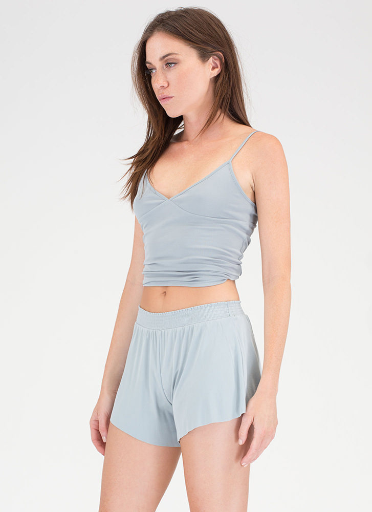 Simply The Best Top 'N Shorts Set LTBLUE