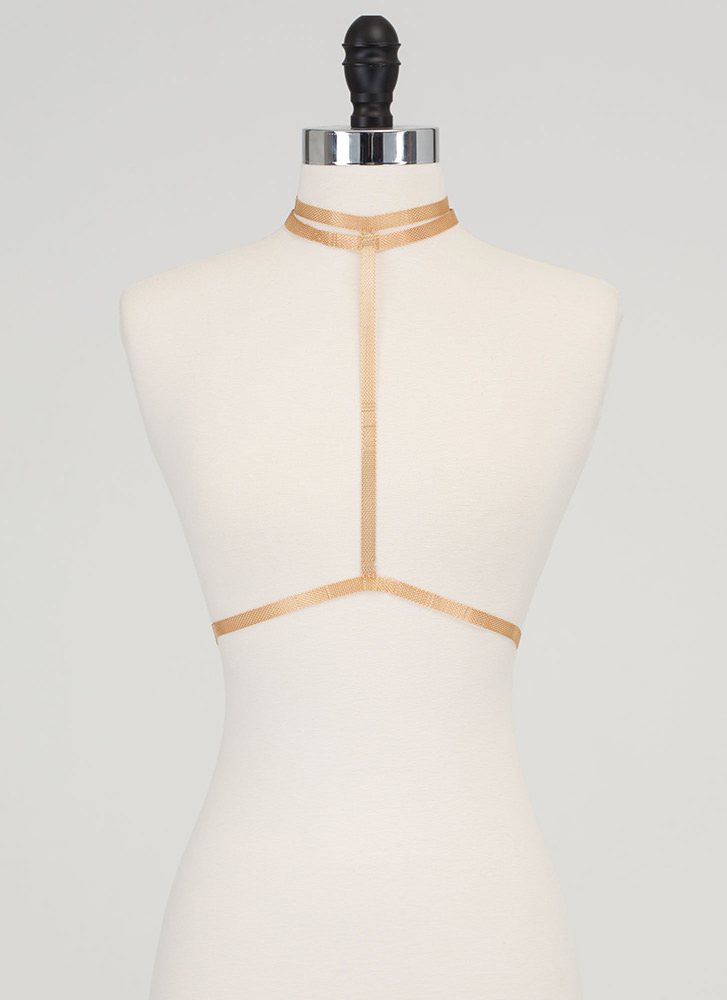 Fit To A T-Strap Panther Bodychain GOLD (Final Sale)