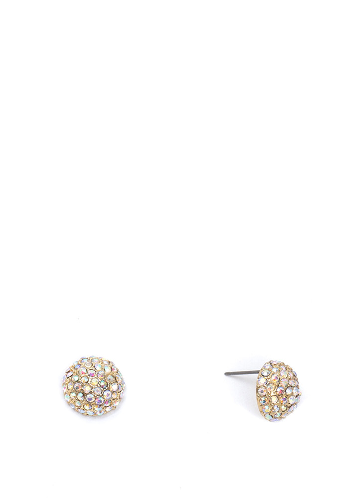 Sparkle And Shine Dome Earrings GOLD