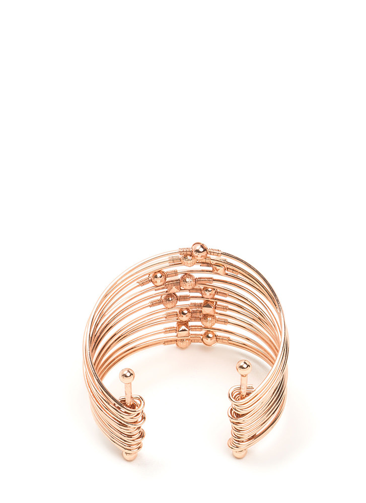 Spring In Your Step Stacked Cuff ROSEGOLD