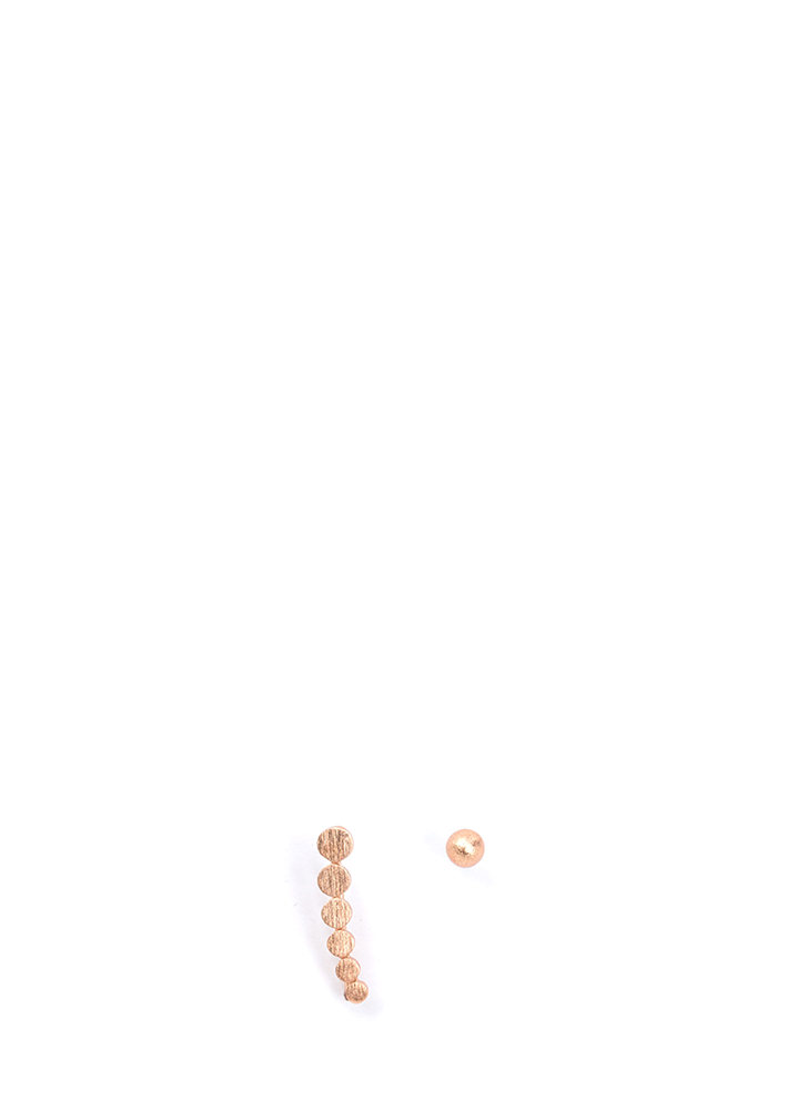 Connect The Dots Shiny Earrings ROSEGOLD