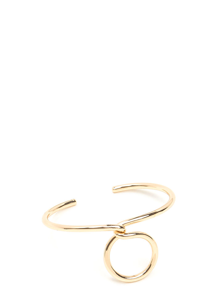 Find A Loophole Twisted Cuff GOLD