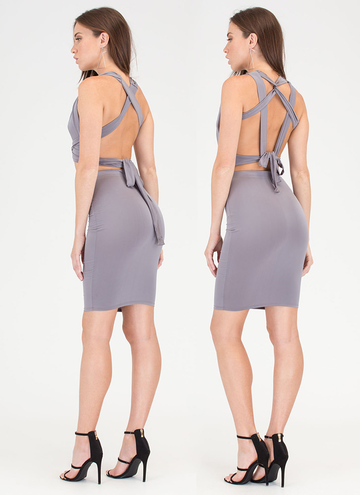 Endless Possibilities Two-Piece Dress GREY