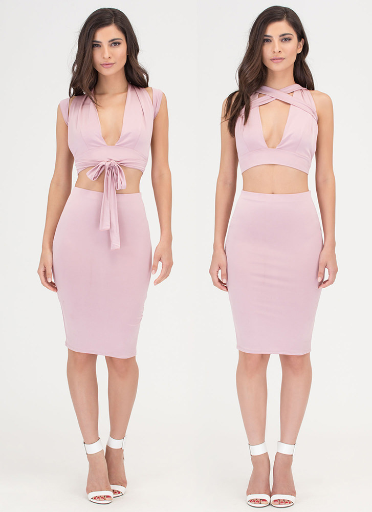 Endless Possibilities Two-Piece Dress MAUVE