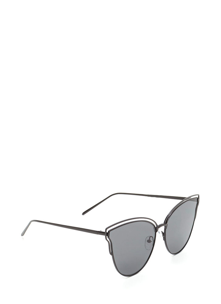 Sunny Disposition Cut-Out Sunglasses BLACK