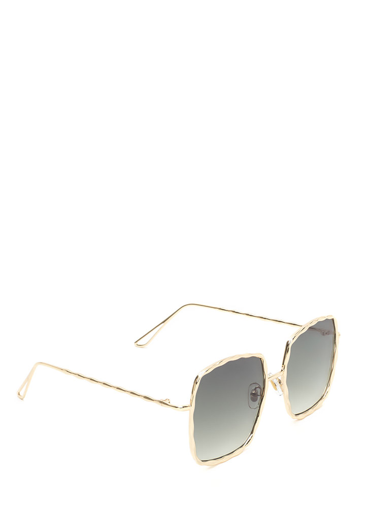 Squared Away Textured Sunglasses GREEN