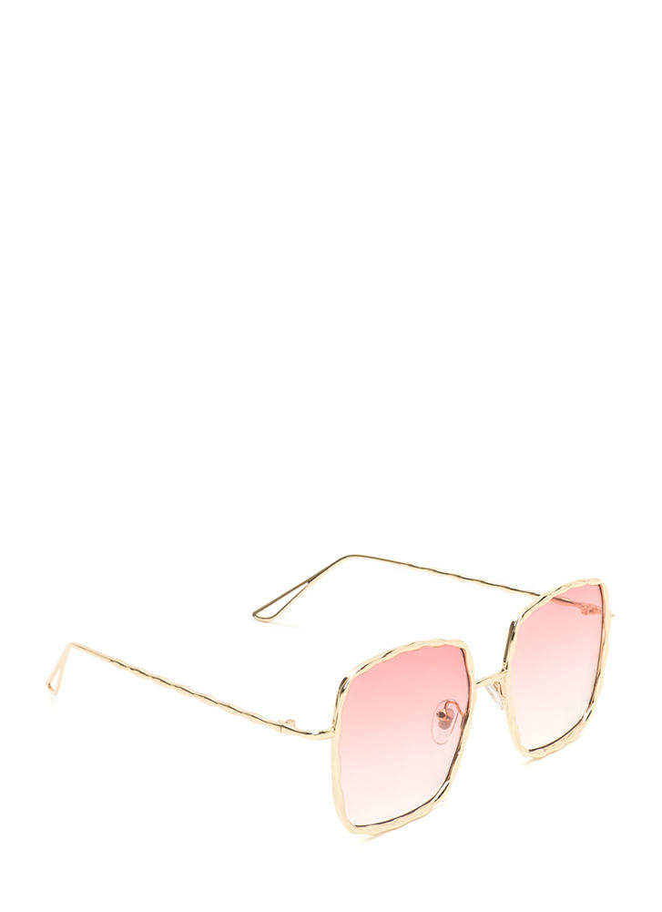 Squared Away Textured Sunglasses PINK