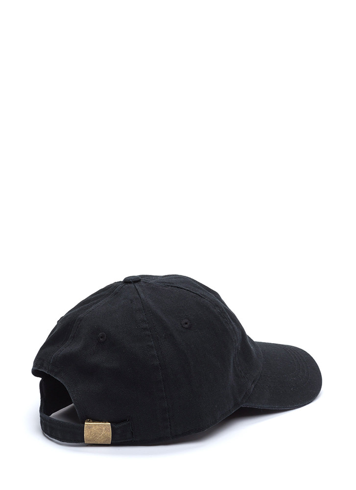American Flag Day Canvas Cap BLACK