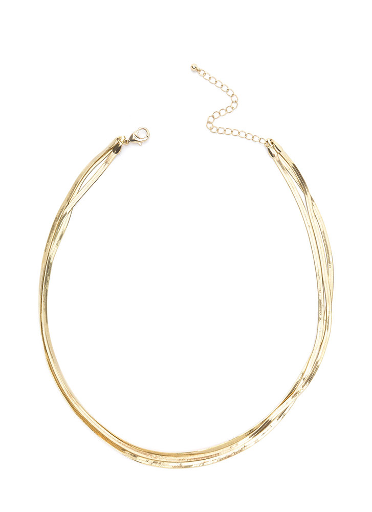 Chic Triple Layered Chain Necklace GOLD