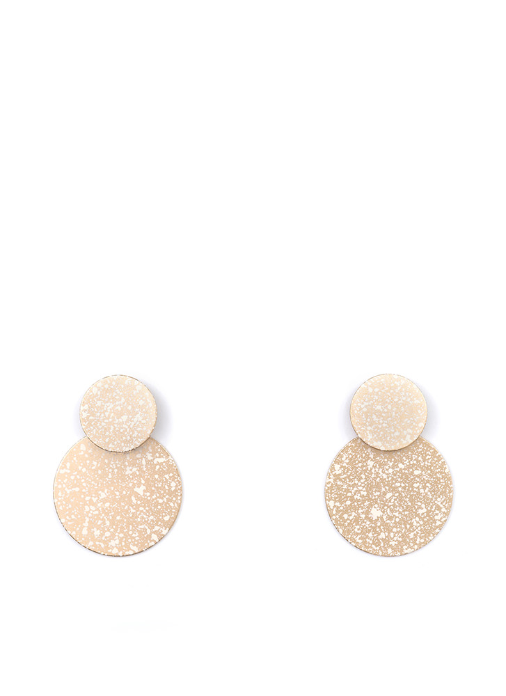 Speck Of Truth Double Disc Earrings GOLD