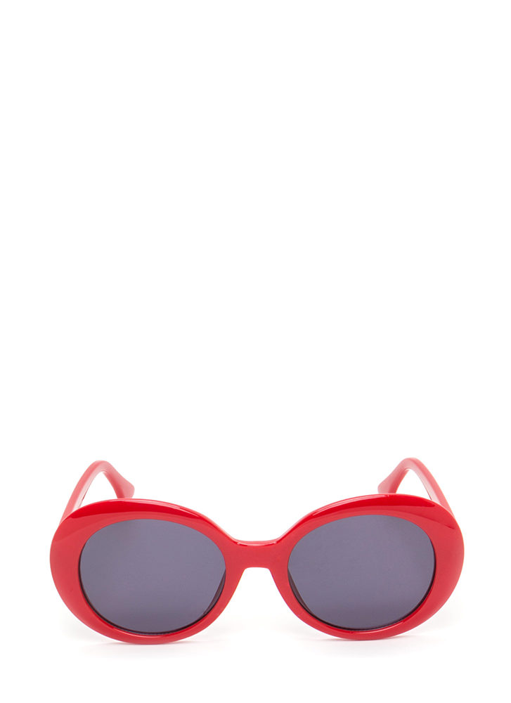 Mod Girl Rounded Sunglasses RED (You Saved $4)