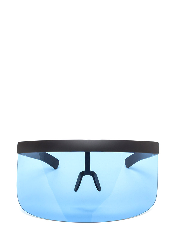 Shield Your Fate Visor Sunglasses BLUE