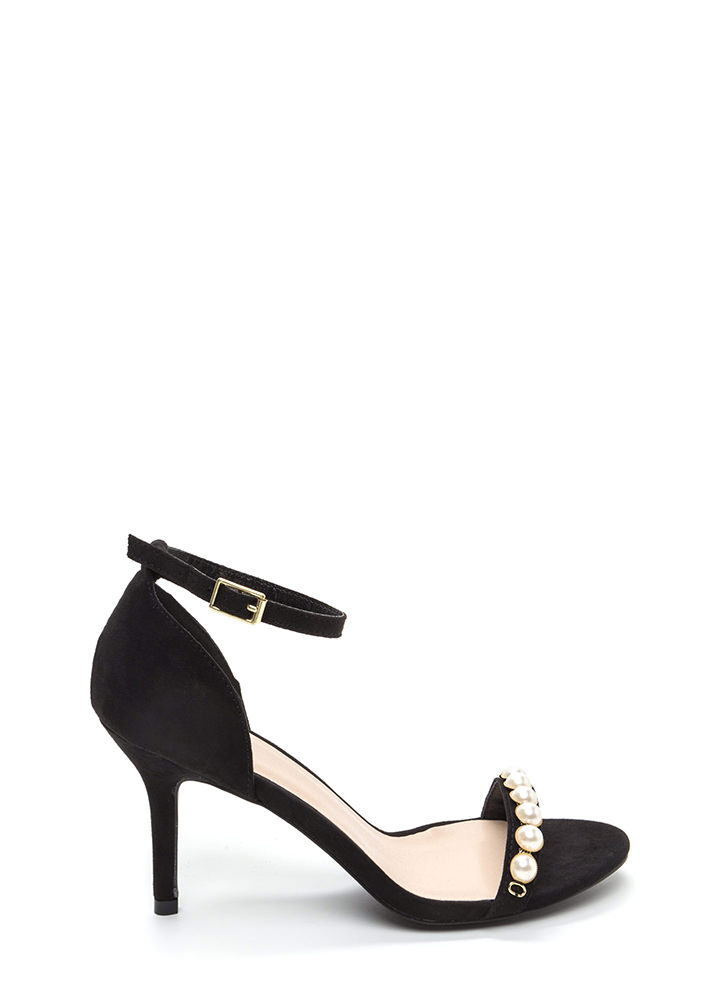 Daughter Of Pearl Ankle Strap Heels BLACK