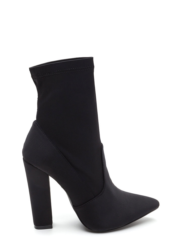 Chic In The City Pointy Booties BLACK